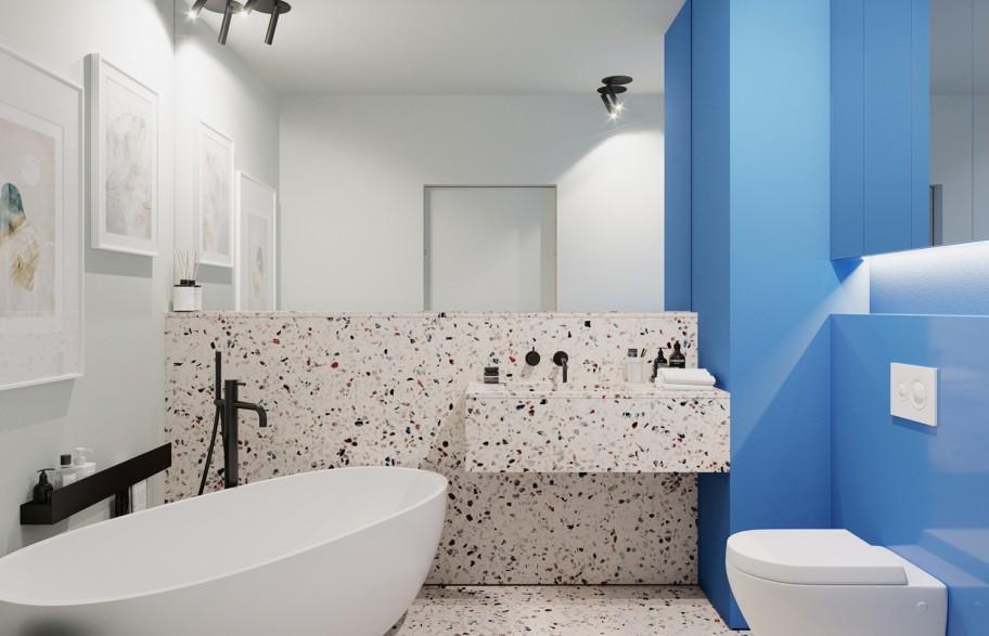 Przykładowa aranżacja mieszkania 58 m2 | łazienka