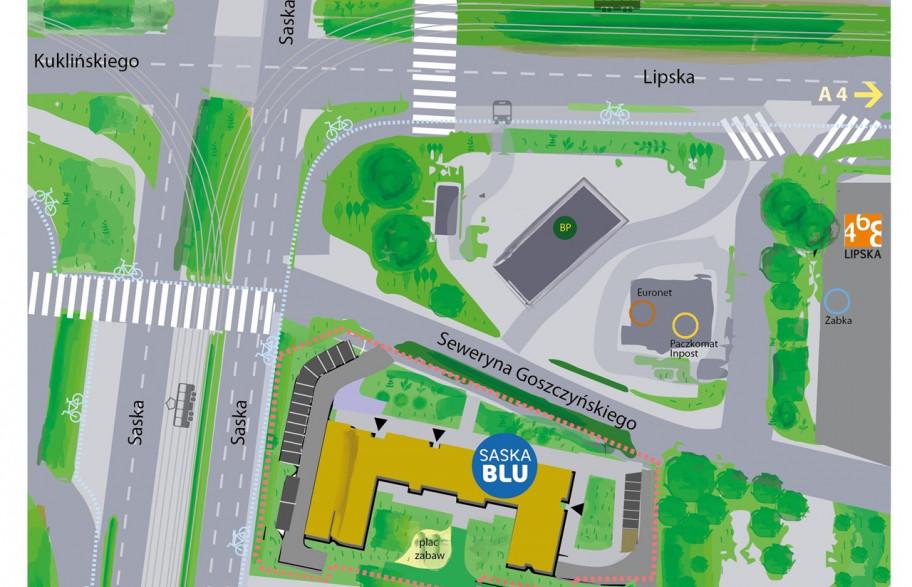 Lokalizacja SASKA BLU - lokale inwestycyjne